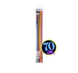 Canudo Flexível 6 Mm Super Longo 70 Cm Strawplast Pct 20
