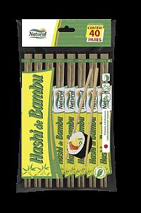 Hashi De Bambu 21 Cm Natural Pct 40 Pares