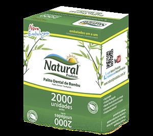Palito De Dente Bambu Em Sache Natural Cx 2000