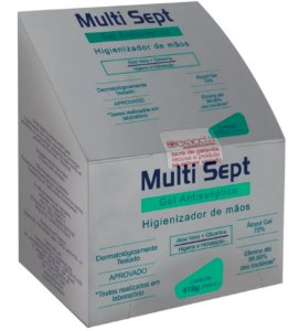 Álcool Gel Antisséptico Multi Sept Refil Pump 700ml