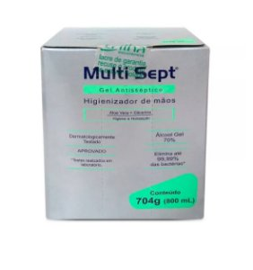 Álcool Gel Antisséptico Multi Sept Refil 800ml