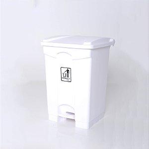 Lixeira Plástica 50l Branca com Pedal - Perfect