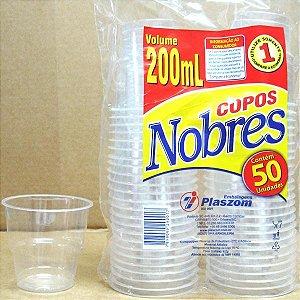 Copo Acrílico Cristal 200 Ml Nobre Pct 50