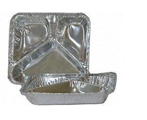 Prato Alumínio 3 Divisórias