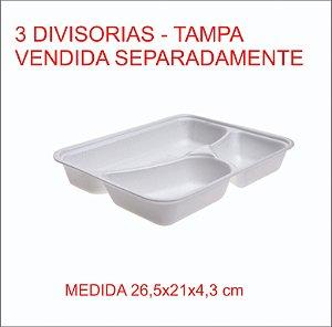 Isopor Bandeja Hf 100-3 1200 Ml 3 Divisorias