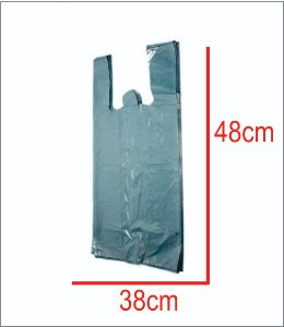 Sacola Plástica 38X48 Reciclada Verde 3 Kg