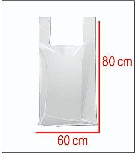 Sacola Plástica 60X80 Reforcada Branca