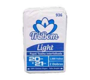 Papel Toalha Virgem 20x21 Light TriBom Interfolhada