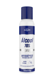 Álcool Spray 70% Antisséptico Hidratante para Mãos - 150 ml