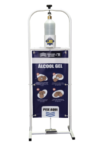 Totem Dispensador Álcool Gel - Pedal