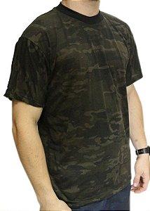 Camiseta Camuflada Manga Curta Multicamblack Dacs