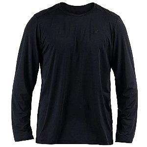 Camiseta Dry Action UV 2A Preta Manga Longa Masculina Mormaii