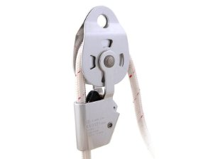 Polia Simples Alumínio p/corda Articulada Rolamentada c/trava Anti Retorno S-2620 Bigcompra