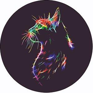 Capa Personalizada para Estepe Ecosport Crossfox Felino Gato Neon 2