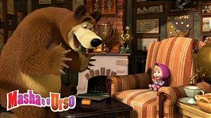 Painel de Festa Infantil Personalizado em Tecido Tema Masha e o Urso 6