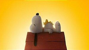 Painel de Festa Infantil Personalizado em Tecido Tema Snoopy 1