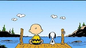 Painel de Festa Infantil Personalizado em Tecido Tema Snoopy 3
