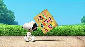 Painel de Festa Infantil Personalizado em Tecido Tema Snoopy 14