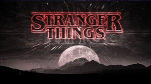 Painel de Festa Infantil Personalizado em Tecido Tema Stranger Things 6