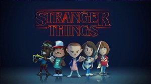 Painel de Festa Infantil Personalizado em Tecido Tema Stranger Things 9