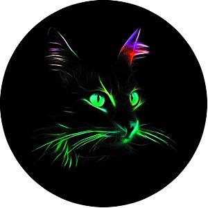 Capa Personalizada para Estepe Ecosport Crossfox Aircross Felino Gato Neon 2