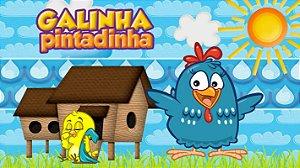 Painel de Festa Infantil Personalizado em Tecido Galinha Pintadinha 10