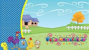 Painel de Festa Infantil Personalizado em Tecido Galinha Pintadinha 11