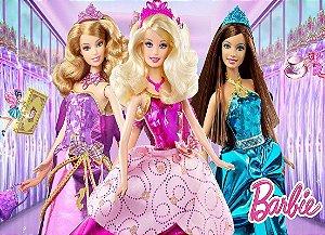 Painel de Festa Infantil Personalizado em Tecido Barbie 21