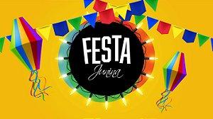 Painel de Festa Infantil Personalizado em Tecido Festa Junina 138x78cm 1