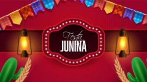 Painel de Festa Infantil Personalizado em Tecido Festa Junina 138x78cm 2