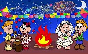Painel de Festa Infantil Personalizado em Tecido Festa Junina 138x85cm