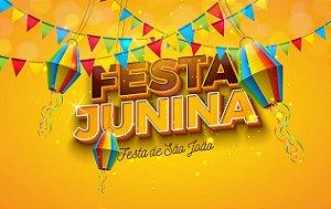 Painel de Festa Infantil Personalizado em Tecido Festa Junina 138x88cm