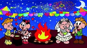 Painel de Festa Infantil Personalizado em Tecido Festa Junina 138x98cm 2