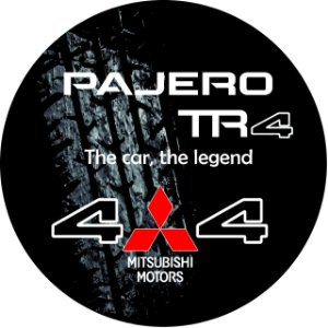 Capa Personalizada para Estepe Pneu Exclusiva Mitsubishi Pajero TR4 4WD