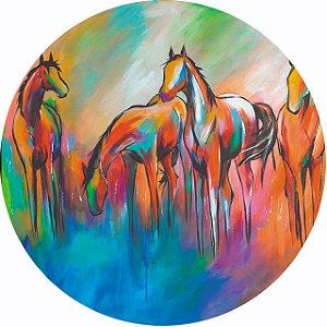 Capa Personalizada para Estepe Ecosport Crossfox Pintura Cavalos