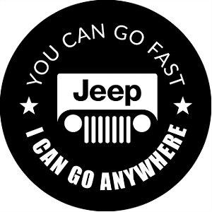 Capa Personalizada para Estepe Impermeável Resistente Estampa Jeep