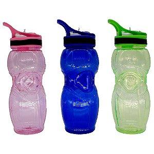 Garrafa Squeeze Água com Bico Canudo 600ml