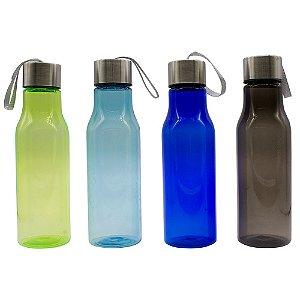 Garrafa Squeeze Água Tampa Inox 600ml
