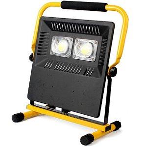 Refletor Holofote Recarregável Led Duplo COB À Prova D'Água 100W