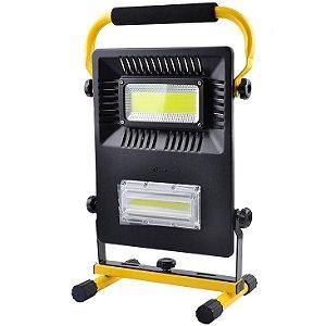 Refletor Luminária Recarregável Led COB 28800mAh à Prova D'Água