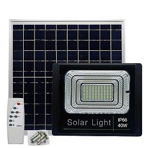 Holofote Refletor 40w À Prova D'Água Energia Solar com Painel Automático e Manual