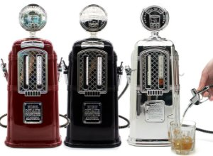 Dispenser Bebidas Duplo Bomba de Gasolina Retrô Vintage