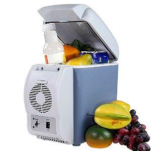 Mini Geladeira Portátil 12V Automotiva 7,5 Litros Esquenta e Resfria