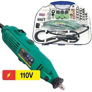 Mini Retifica Elétrica com Acessórios 110V