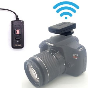 Radio flash fotográfico 4 canais transmissor e receptor