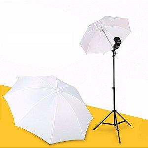 Sombrinha Difusora Suavizadora Branca Rebatedor Flash Acessório Fotográfico