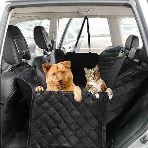 Capa Protetora Impermeável Dupla para Banco Traseiro Pet