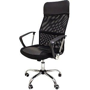 Cadeira de Escritório modelo presidente Tecido mesh