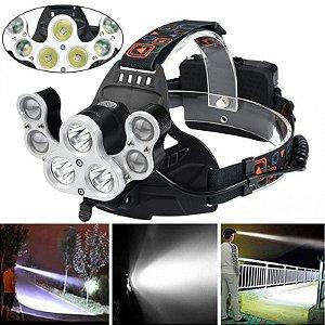 Lanterna de Cabeça 7 LED XM-L T6 4 Modos 35000LM