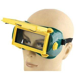 Óculos de Solda Escurecimento Automático Lente Rebatível
